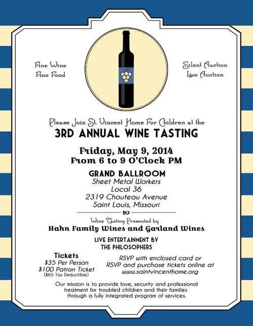 3rd Annual Wine Tasting @ Grand Ballroom, Sheet Metal Workers Local 36