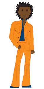 orange leisure suit guy