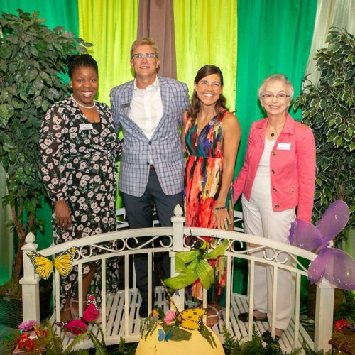 St. Vincent Board President Tiffany Charles, Co-Hosts Kevin and Marianne Buchek, and St. Vincent CEO Dr. Carla Monroe-Posey